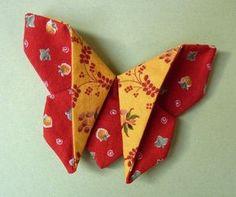 Tutos plusieurs papillons en tissu tuto : Several butterflies in fabric