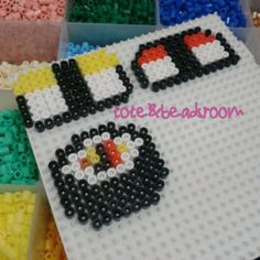 Sushi hama beads by totebeadsroom