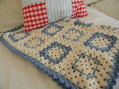 granny blue baby blanket