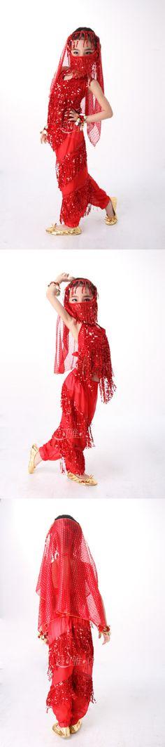 Aliexpress.com: Comprar Danza del vientre Set Costume Kids niño de danza del vientre ropa para los niños usan 4 colores para elegido de velo partido fiable proveedores en Better U N ME