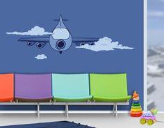 Wandtattoo Kinderzimmer Flugzeug