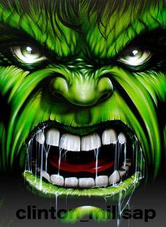 Hulk painting on canvas by clintonmillsap on deviantART