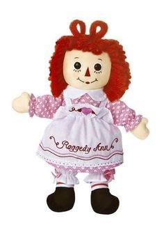 """16"""" Aurora Plush Raggedy Ann Valentine Rag Doll Soft Stuffed Animal Toy Pink Bow"""