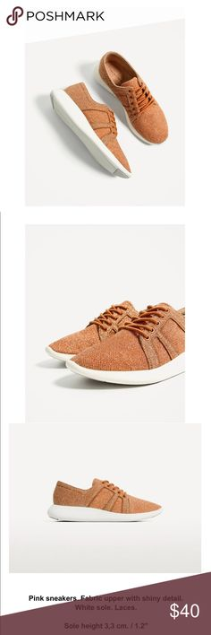 ZARA- Caramel Sneaker- NTW 😊😊😳✨✨ Brand new with tags!! Omg it's super comfy💕💕 open with offer as always Zara Shoes Sneakers
