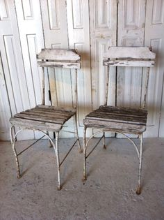 France - 1930's shite chairs Repinned by www.silver-and-grey.com