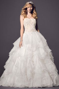 Got my wedding dress yesterday and this is it!!! #12/13/14 Oleg Cassini Style CWG568