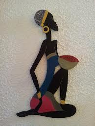 Cuadros de negritas africanas - Cómo hacerlos uno mismo Black Women Art, Black Art, African Colors, African Art Paintings, Africa Art, Silhouette Art, African American Art, Art Pictures, Drawings