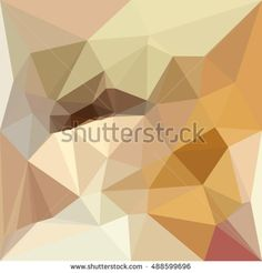 Low polygon style illustration of a corn yellow beige abstract geometric background.