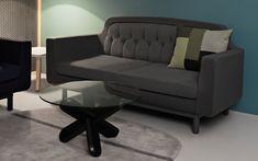 Oona Carpet - Modern grey wool carpet, 140x140 cm