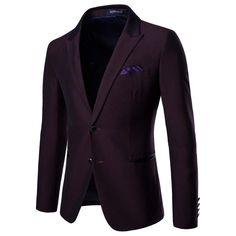 Lutratocro Men Lapel Neck One Button Slim Floral Print Coat Sports Blazer Jacket