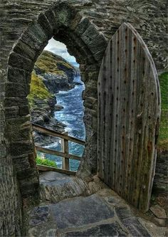 Tintagel Castle, Cornwall,  England. Legend has it it\'s part of the Arthurian myth