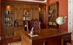 Wood office - cherrywood - Home and Garden Design Ideas - Closet Factory