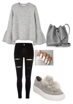 """""""Outfit ,Spring"""" by mbelma ❤ liked on Polyvore featuring Steve Madden, River Island, MANGO, Lancaster, Spring, outfit, beautiful and women"""