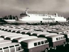 VW Transporters being transported.