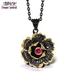 Find More Pendants Information about DreamCarnival 1989 Gothic Black Gold Color Flower Pendant Necklace for Ladies Fuchsia CZ Costumes Jewelry Collier Bijoux Collana,High Quality necklace pendant gold,China black pendant Suppliers, Cheap necklace necklace from dreamcarnival1989 Official Store on Aliexpress.com