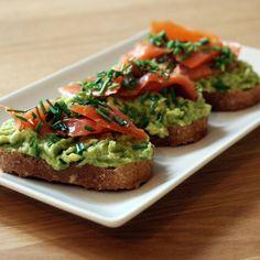 Chlebíček s lososom a avokádom Avocado Toast, Breakfast, Food, Meal, Eten, Meals, Morning Breakfast