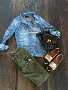 Chambray Denim Top | SexyModest Boutique