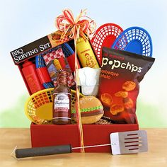 The Great Outdoors Gift Basket for the next time you get invited to those summer BBQ