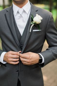 wedding groom suit tuxedo grey mens