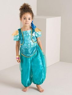 Bring the magic of Shimmer and Shine to your little one's dressing up box, with this sparkling turquoise Shine costume. Shine Costume, Fancy Dress Costumes Kids, Shimmer N Shine, Dress Up, Turquoise, Summer Dresses, Fashion, Moda, Costume