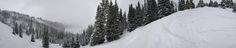 Snow on the Horizon Panorama: Deer Valley Utah [OC][12286  2540]