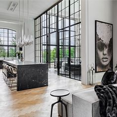 luxury avant garde Canadian home 3 Decorating Your Home, Interior Decorating, Interior Design, Automatic Blinds, 4 Season Room, Limestone Fireplace, Dream House Exterior, Stair Railing, Architecture Details