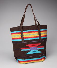 Take A Look At This Brown Turquoise Tribal Tote By Livingston On