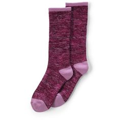 Lands' End Women's Heat Winter Boot Socks - Thermaskin ($16) ❤ liked on Polyvore featuring intimates, hosiery, socks, purple, purple winter boots, moisture wicking socks, winter boots, lands' end and sweat wicking socks