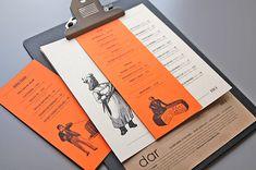Mezzet Dar — Restaurant Menu on Behance Decoration Restaurant, Bar Restaurant Design, Restaurant Identity, Spanish Restaurant Menu, Restaurant Restaurant, Industrial Restaurant, Café Design, Book Design, Graphic Design