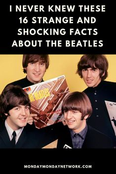 "Think you""re a true Beatlemaniac? Take a look at these facts and test your knowledge. Rock And Roll Artists, Monday Monday, After All These Years, Shocking Facts, Rock N Roll Music, Live Rock, Rock Groups, The Beatles, Never"