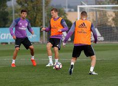 Kroos y Varane entrenan con el grupo