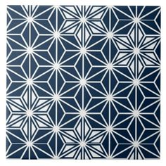 Get your hands on Zazzle's Japanese Blue And White ceramic tiles. Search through our wonderful designs & find great tiles to decorate your home! Star Patterns, Textures Patterns, Floral Patterns, Geometric Designs, Geometric Shapes, Dotwork Tattoo Mandala, Tattoo Abstract, Japanese Patterns, Japanese Prints