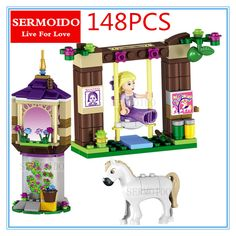 148 PCS City Friend Faily tell Tangled Princess Rapunzel's Best Day Building Blocks Compatible With B260 #Affiliate