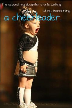 I loved cheer before I had to drop out of it...I know Zoey will as well. Putting her in cheer as soon as she turns 3!