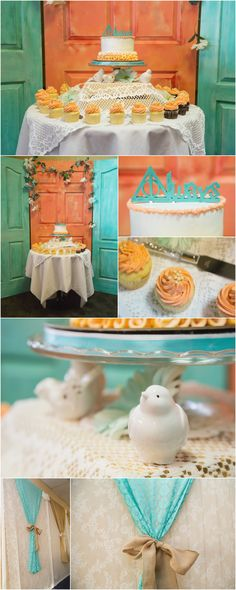 Kayla + Blair's Wedding at Clarion Hotel | Medicine Hat Wedding Photographer. Photo of coral and teal wedding decorations including Harry Potter wedding cake. Taken by Woods Photography (CANADA). #weddingphotography #medicinehat #weddingdecor