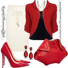 """""""Red Cream And Black"""" by konata-phenomenalstyle on Polyvore"""