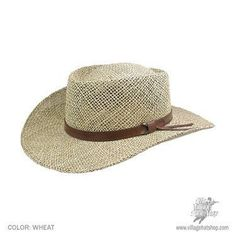 Seagrass Straw Gambler Hat available at  Brighton Hat Shop 7aaad71f2df