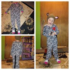 Diy upcycled hoodie into piggy costume pig costume do it diy zebra costume from upcycled reused sleeper solutioingenieria Images
