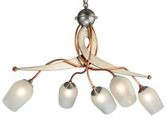 """30 Inch L Ballerina 5 Lt Chandelier - 30 Inch L Ballerina 5 Lt Chandelier Theme: DECO CONTEMPORARY Product Family: Ballerina Product Type: CEILING FIXTURE Product Application: CHANDELIER Color: BRUSHED STEEL/COPPER Bulb Type: G9 Bulb Quantity: 5 Bulb Wattage: 25 Product Dimensions: 22""""-56""""H x 30L x 23WPackage Dimensions: NABoxed Weight: 8 lbsDim Weight: 121 lbsOversized Shipping Reference: NAIMPORTANT NOTE: Every Meyda Tiffany item is a unique handcrafted work of art. Natural variations in…"""