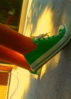green converse