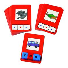 Buy Didax Cvc Word Building Cards 24 Cards at UnbeatableSale Kindergarten Language Arts, Preschool Literacy, Kindergarten Reading, Teaching Reading, Literacy Centers, Phonics Reading, Reading Practice, Literacy Stations, Reading Centers