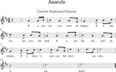 Anatole. Canción Tradicional Francesa.