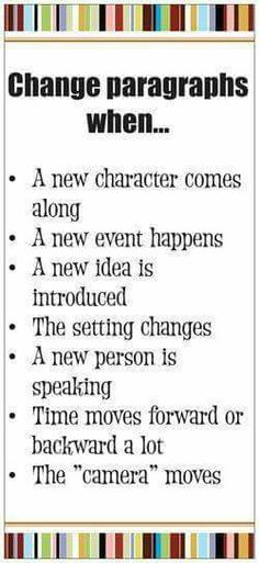 Change a paragraph when...