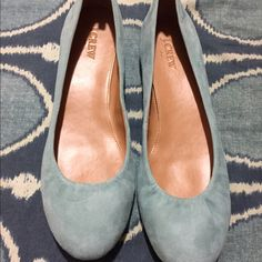 Spotted while shopping on Poshmark: J Crew Blue Ballet Flats! #poshmark #fashion #shopping #style #J. Crew #Shoes