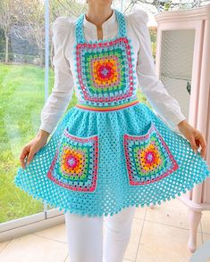 VK is the largest European social network with more than 100 million active users. Crochet Granny, Free Crochet, Granny Square Projects, Crochet For Beginners Blanket, Retro Apron, Japanese Sewing, Crochet Kitchen, Medieval Clothing, Yarn Colors