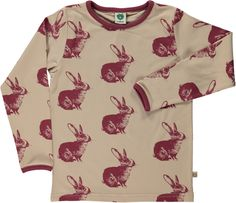 Smafolk T-Shirt LS Rabbit Sand