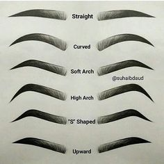 """1,628 Likes, 159 Comments - Falynda Sharon (@fay.shr4_) on Instagram: """"which one is yours? 🤔 mine soft arch 😉#kudou #eyebrows #eyebrowtutorial"""""""
