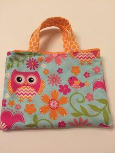 Orange Owls & Polka Dots - Toddler Tote, $15.00