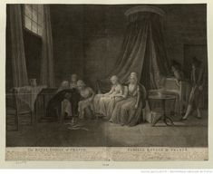 The Royal Family of France : This Print represents the Situation of the Royal Family on the 24.th of January 1793, three days after the Execution of Lewis the XVI... : [estampe] / Dessiné au Temple par &c ; Engraved by Mariano Bovi...   Gallica