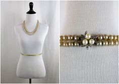 Vintage Necklace  1950s  Double Strand Champagne Pearls